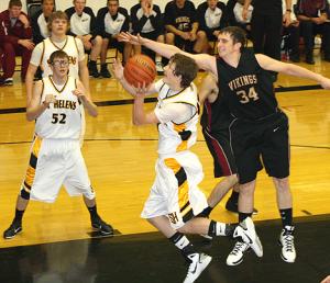 Giocatore di basketball mancino